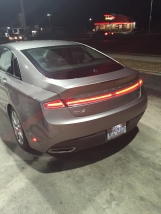Our new rental after the flat tire was nice... The 2015 Lincoln MKZ